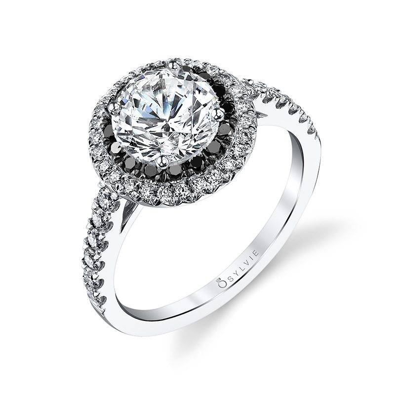 Milvia - Classic Double Halo Engagement Ring
