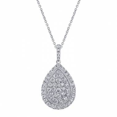 PEAR SHAPED DIAMOND PENDANT - PD638