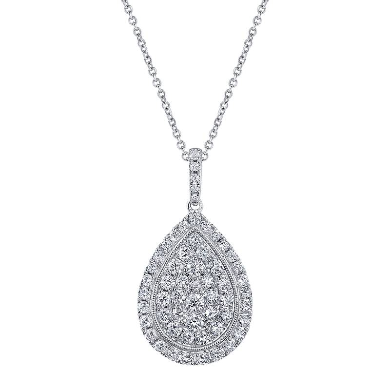 Pear Shaped Diamond Pendent