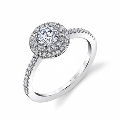 Cadencia - Petite Double Halo Engagement Ring