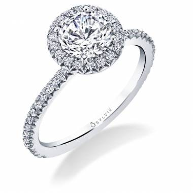 Vivian - Classic Halo Engagement Ring