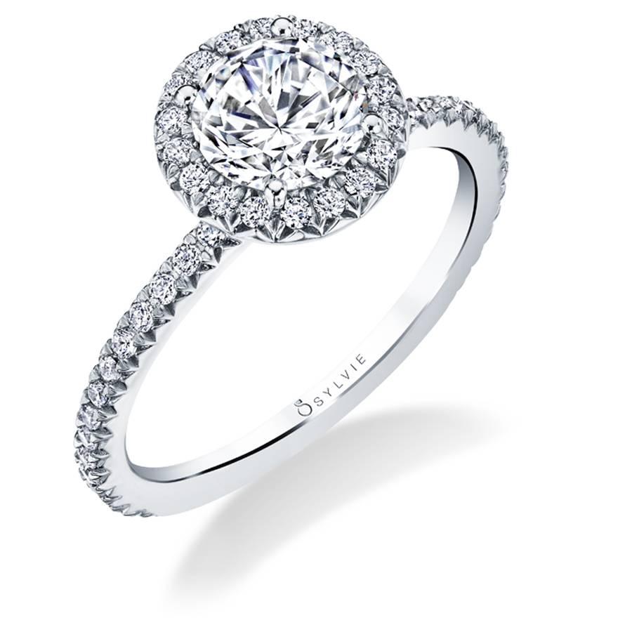 Vivian - Classic Halo Engagement Ring