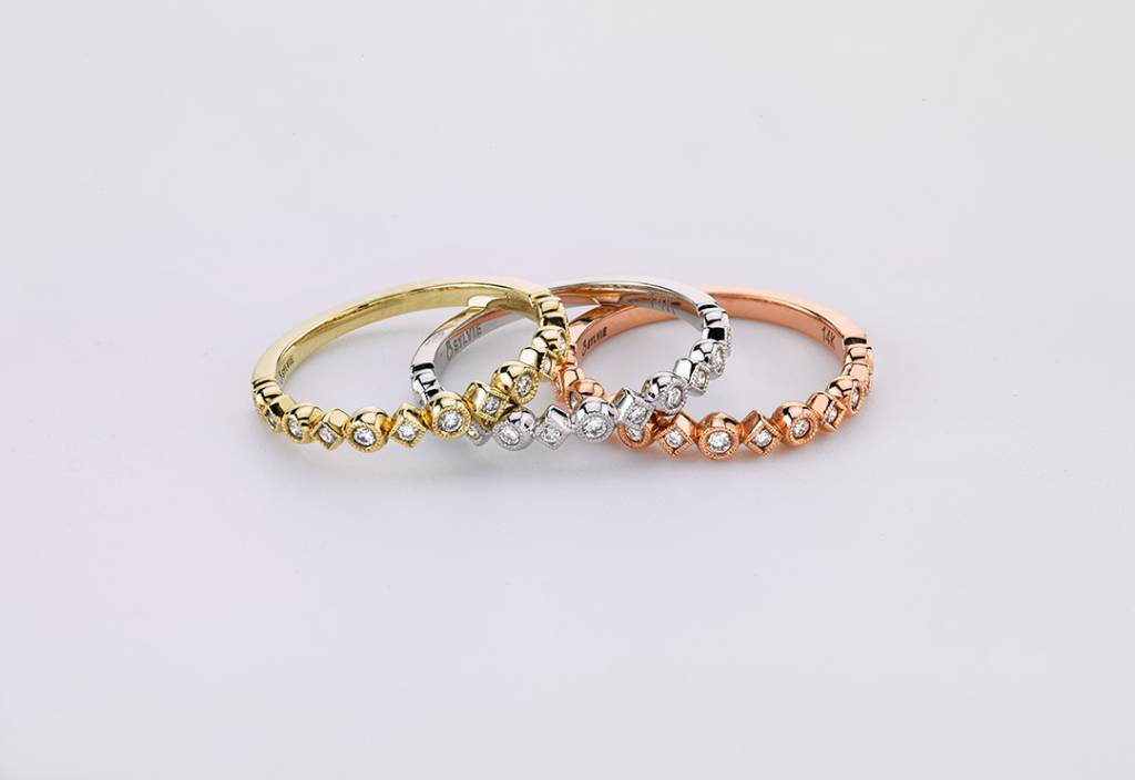 3b5920faa487b Stackable Wedding Bands: Mix and Match Fall Fashion