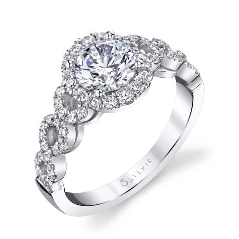 Modern Spiral Engagement Ring