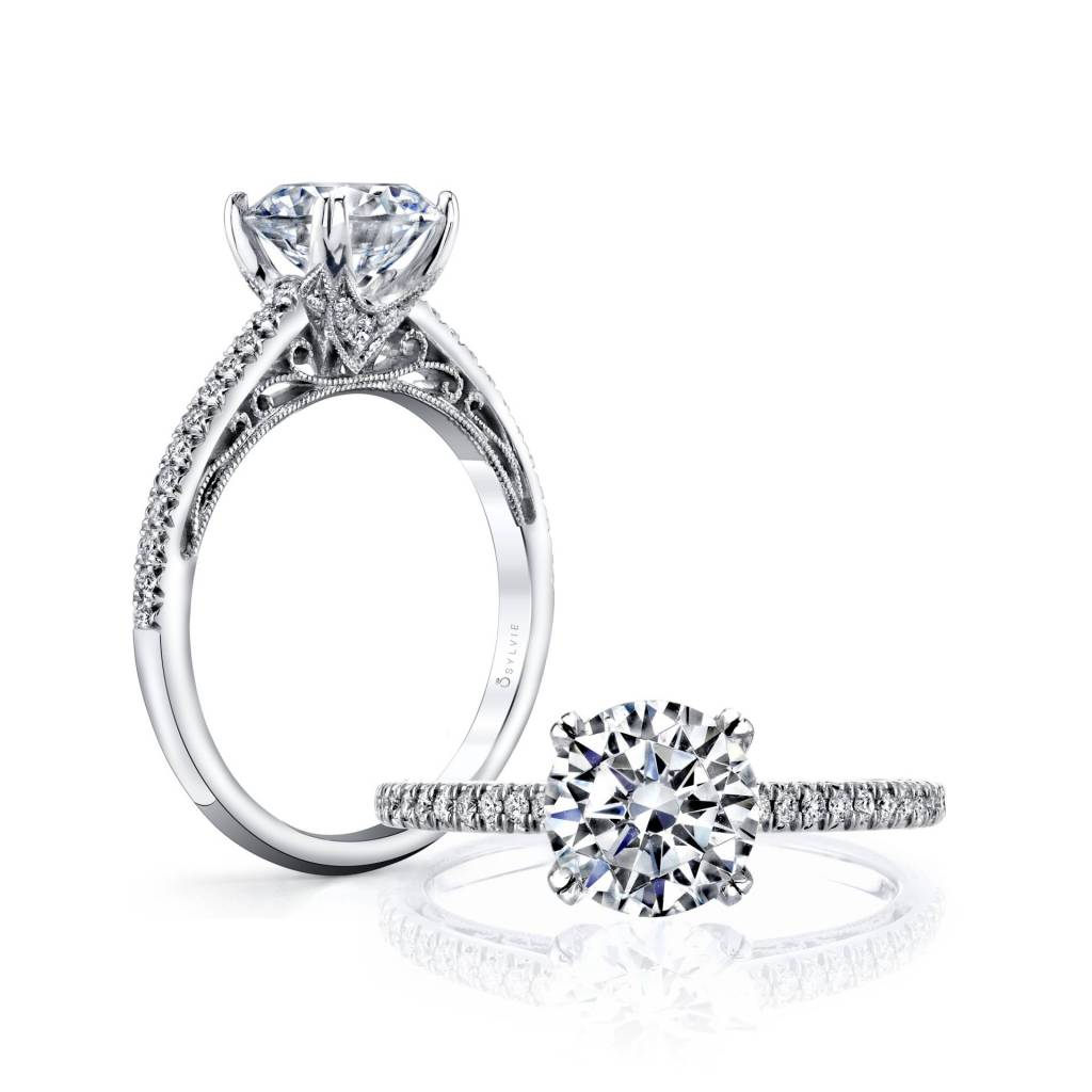 solitaire engagement ring layout