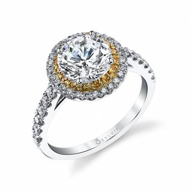 Frederique - Classic Double Halo Engagement Ring