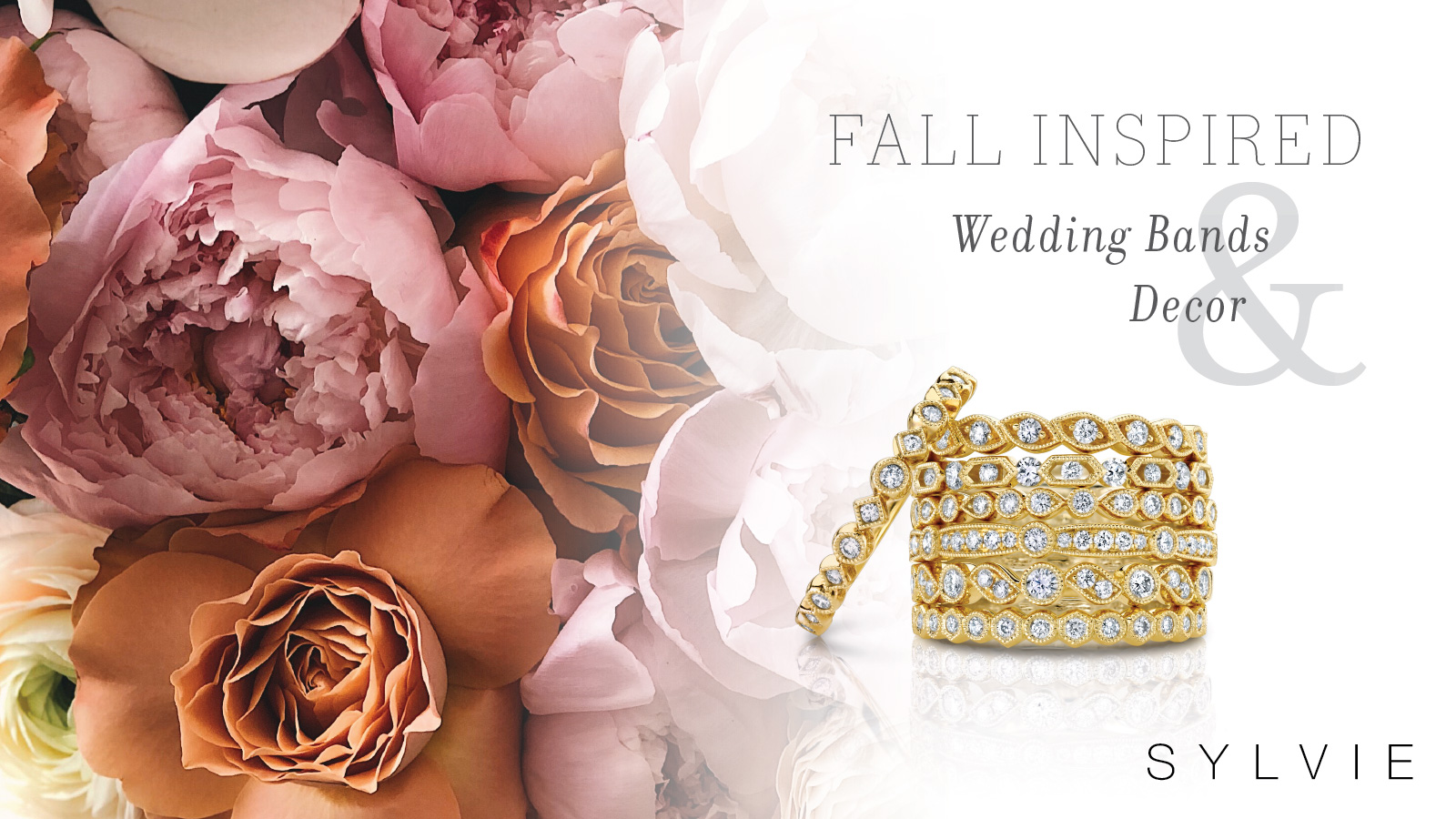 Fall Inspried Wedding Bands and Decor - Sylvie collection