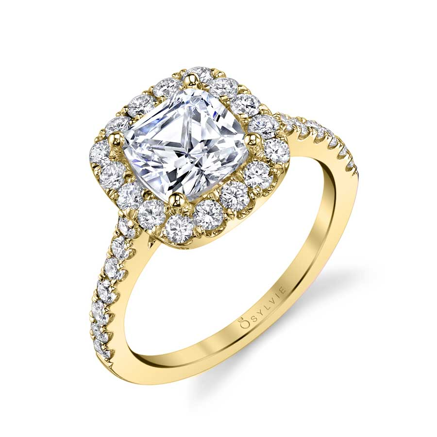 Joanne – Cushion Cut Halo Engagement Ring