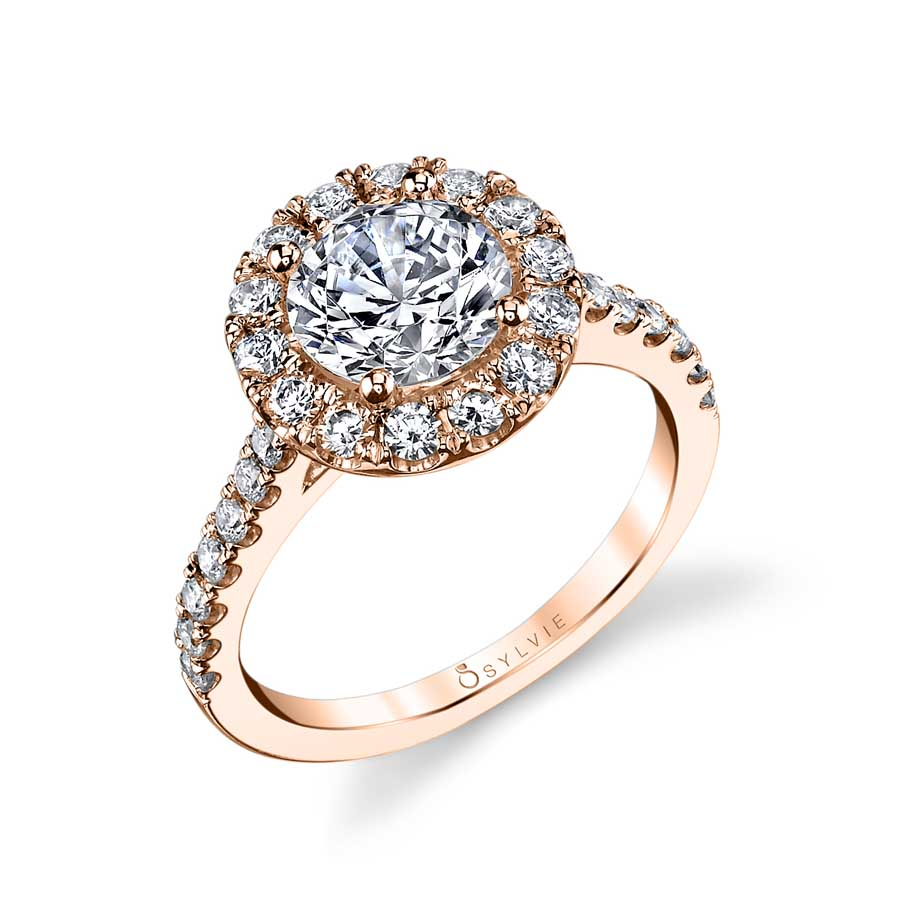 Claire - Classic Round Halo Engagement Ring