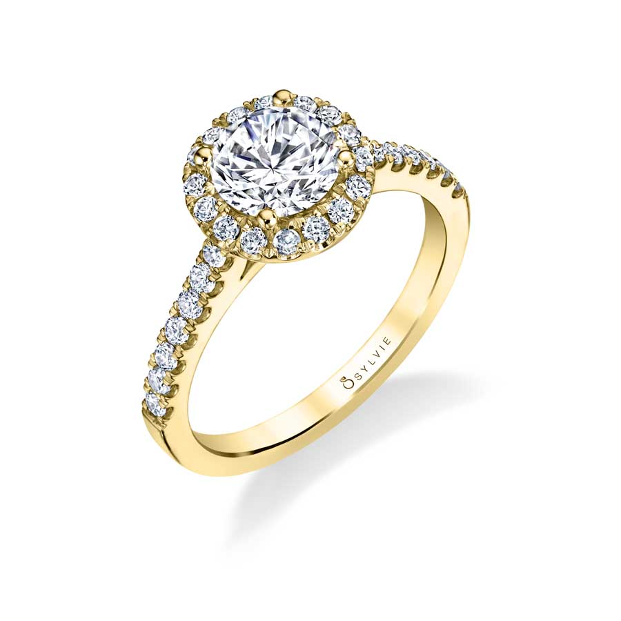 Classic Wedding Rings: Emma -Classic Halo Engagement Ring