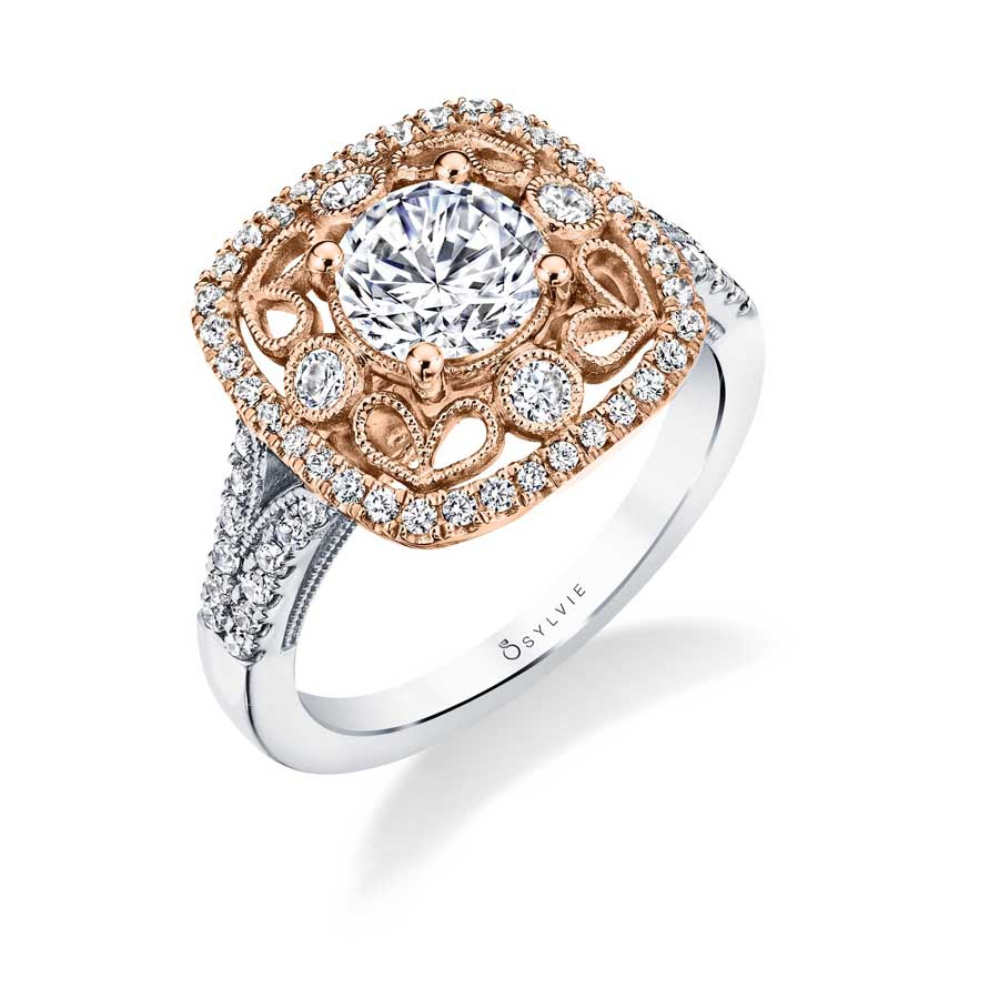 Elita – Vintage Inspired Special Edition Halo Engagement Ring
