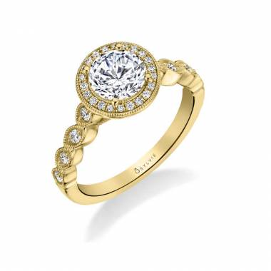 Loreen - Stackable Halo Engagement Ring