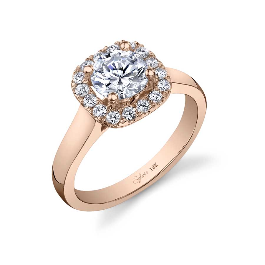 Round Halo Engagement Ring_SY756-0028/A4W