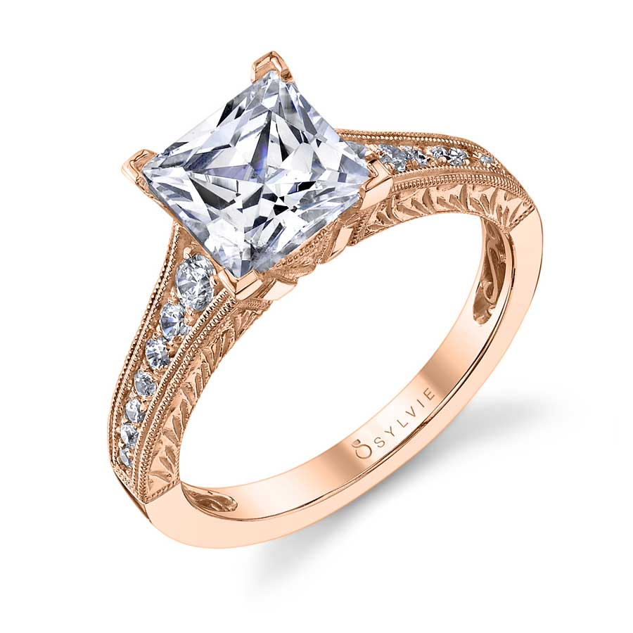 Ophelia - Princess Cut Engagement Ring | Sylvie