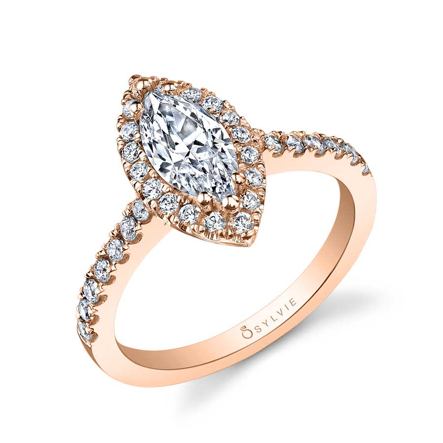 Halo Marquise Engagement Ring Sylvie-SY999-MQ-WG