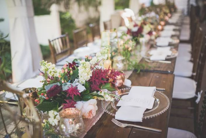 fall inspired wedding centerpieces