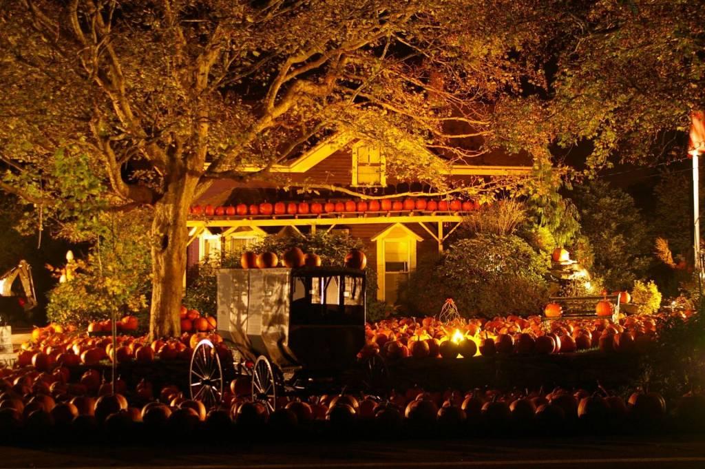 Halloween proposal haunted house