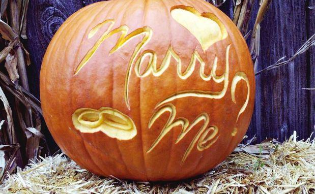 Halloween Proposal Pumpkin