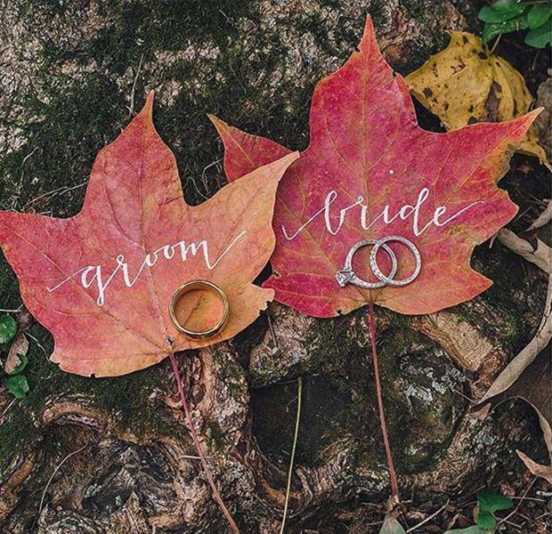 fall inspired wedding set