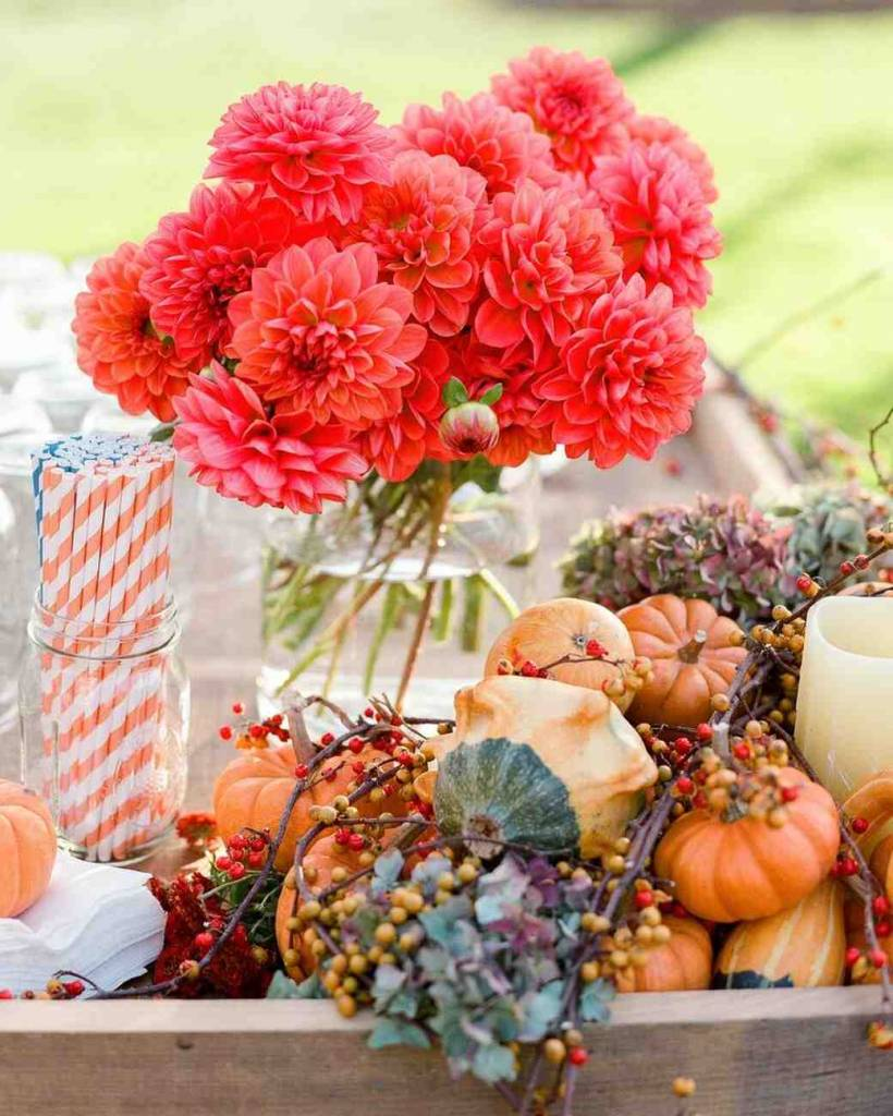 fall inspired wedding table