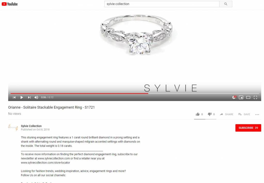 engagement ring video