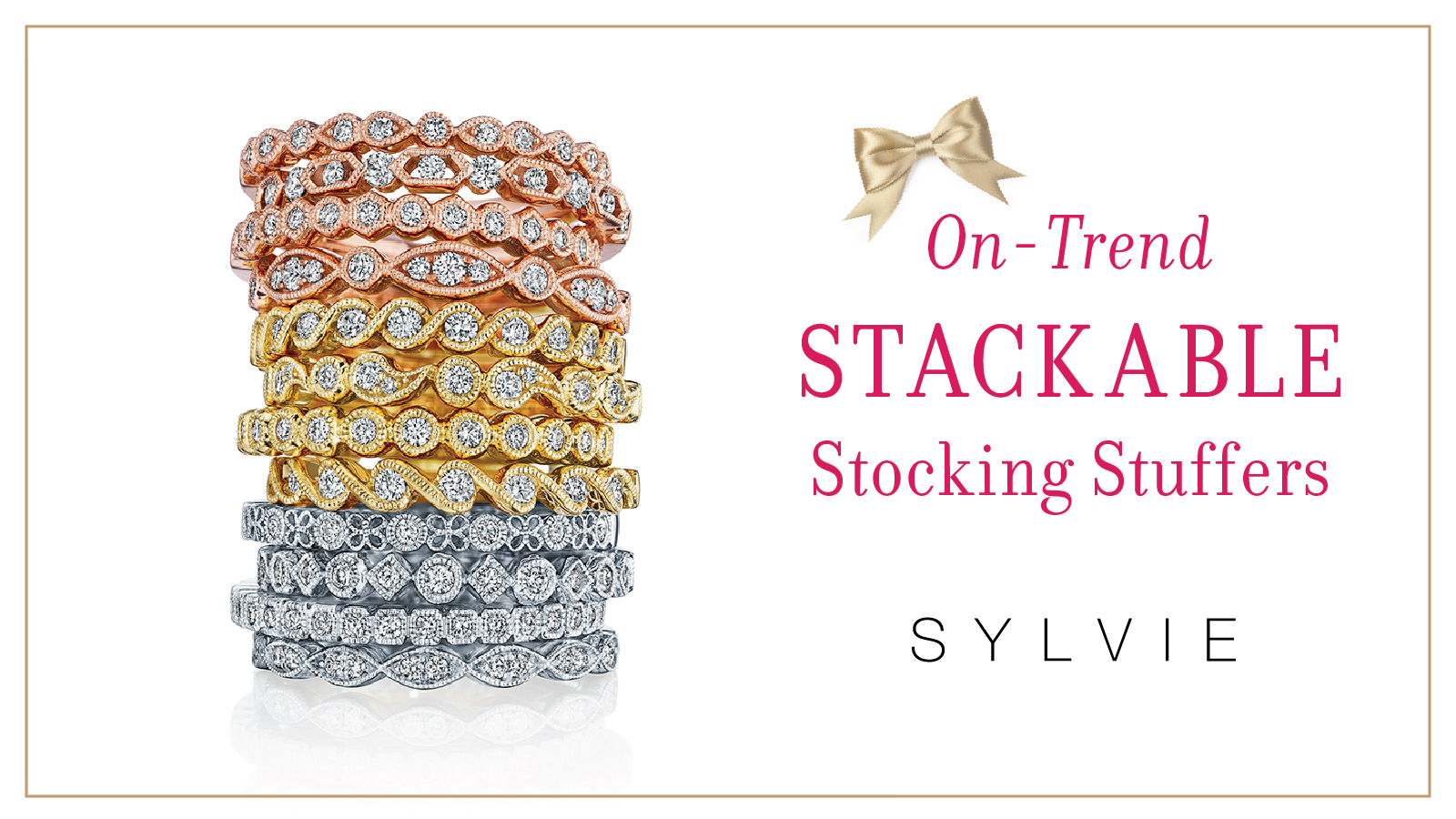 On-Trend Stackable Band Stocking Stuffers - Sylvie Collection