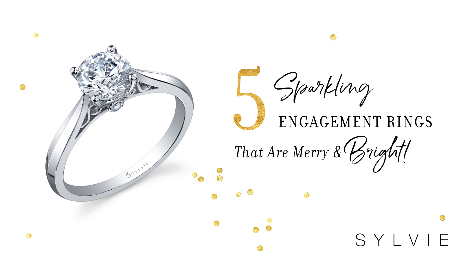 5 Sparkling Engagement Rings That Are Merry and Bright