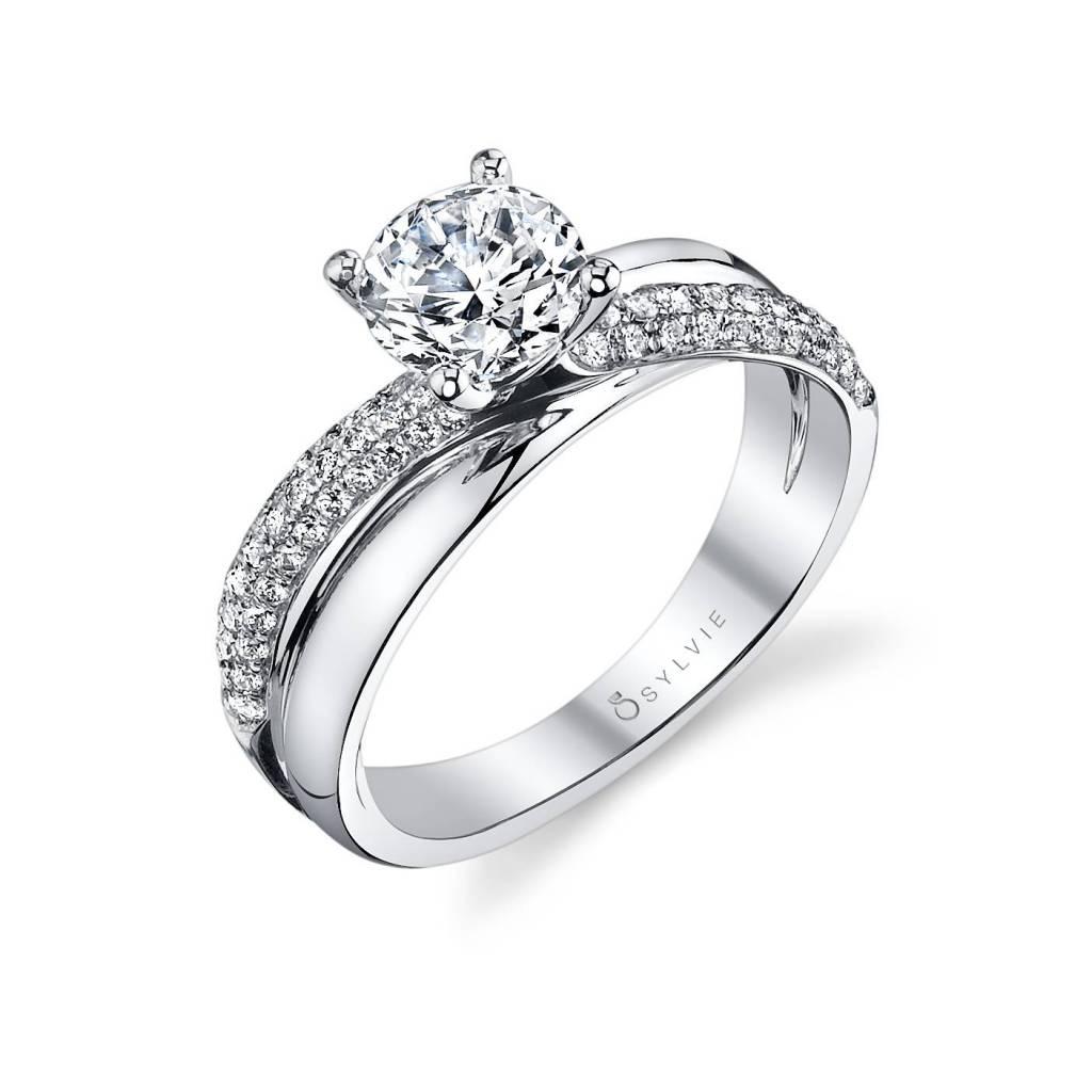 unique spiral engagement ring
