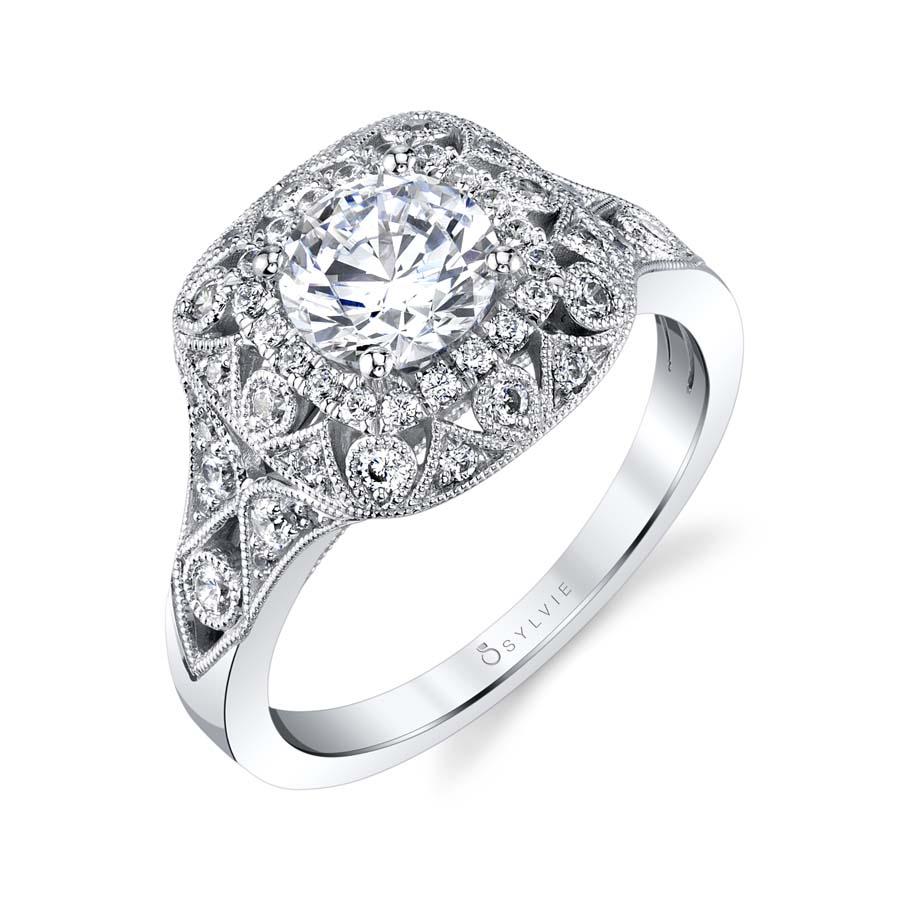 double halo unique engagement rings