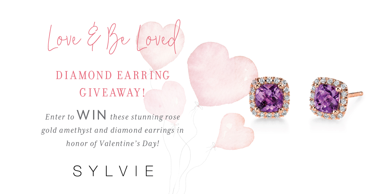 Rose Gold Amethyst and Diamond Earring Giveaway
