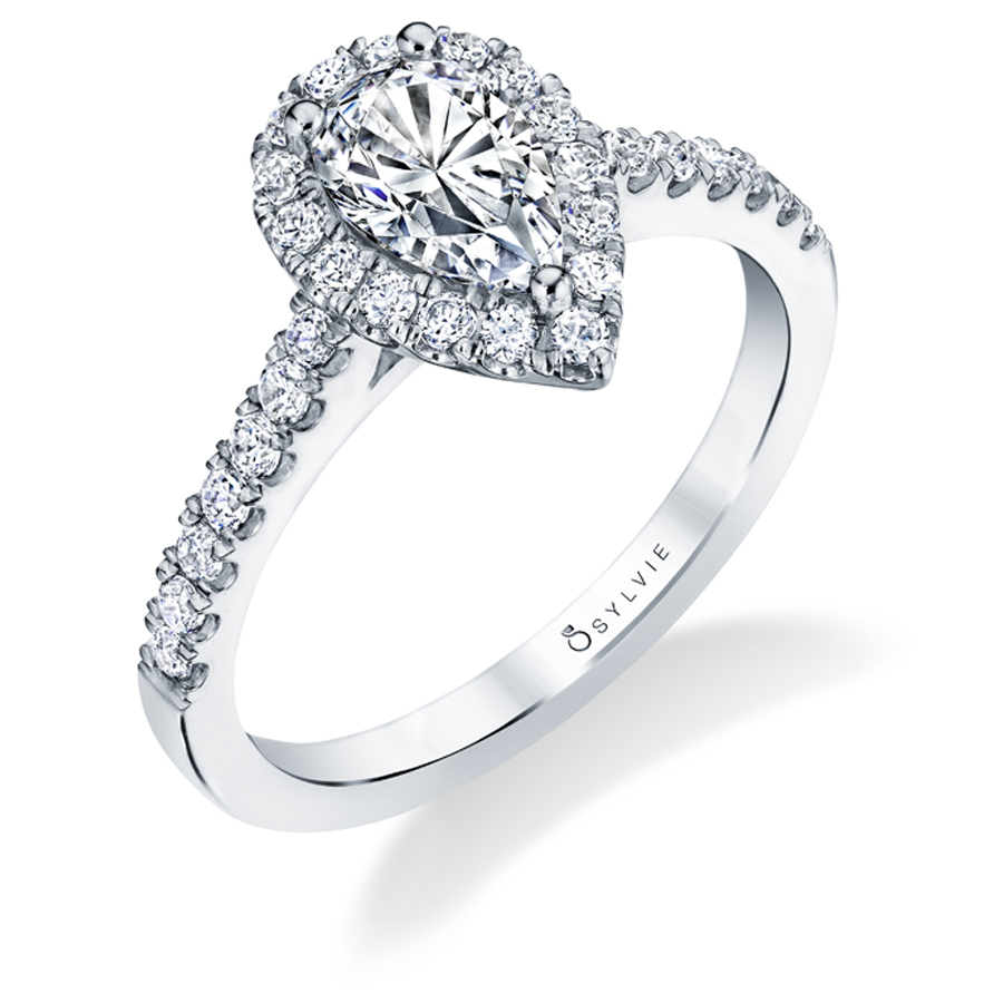 pear cut engagement ring - sylvie