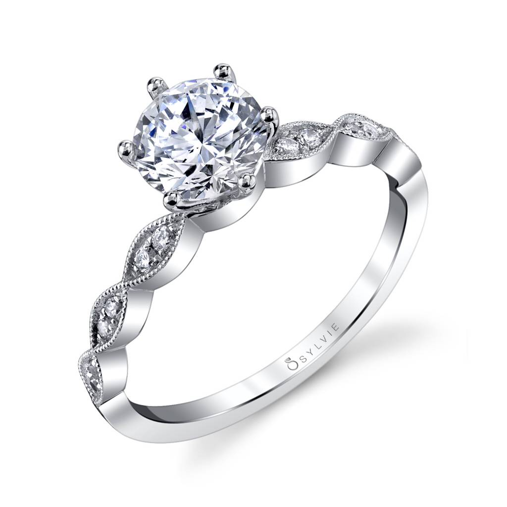 stackable band engagement ring - sylvie collection