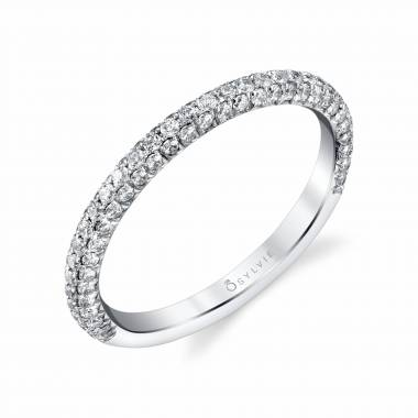 57586d4e8c7 WEDDING BAND WITH PAVE DIAMONDS – BS1633