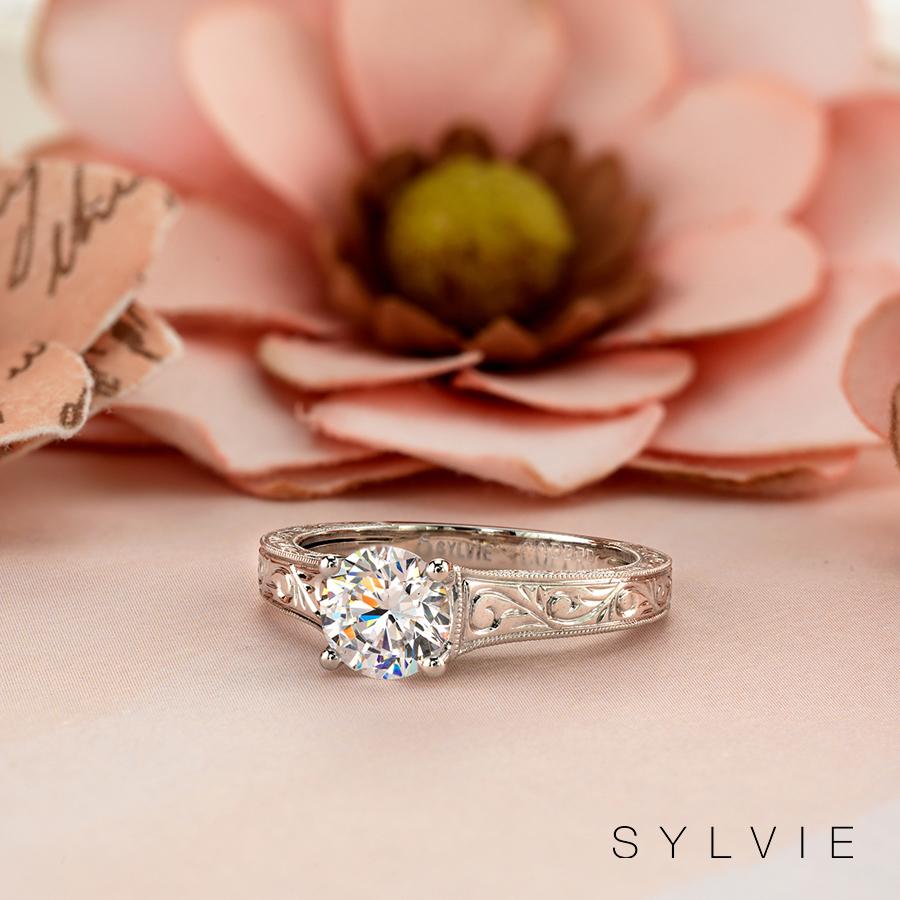 hand engraving engagement ring
