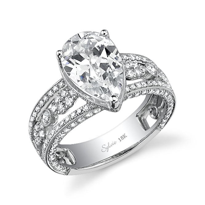 vintage pear engagement ring