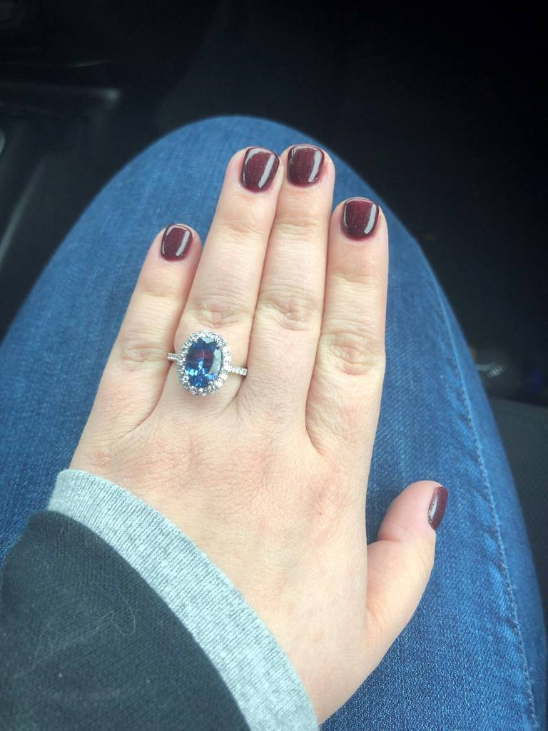 S1199 oval engagement ring